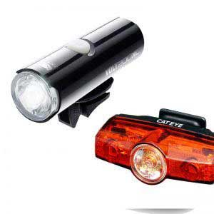 CatEye VOLT 200 Bicycle Headlight / Rapid X Tail Light Combo Kit