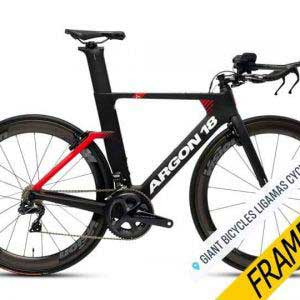 Argon 18 E-117 Tri Frameset – Black/Red Matte