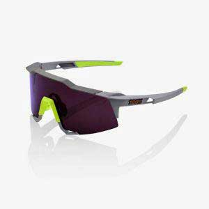 Ride 100% Speedcraft Soft Tact Midnight Mauve Purple Lens + Clear Lens Included
