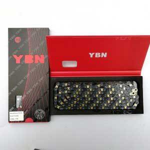 YBN Ultralight Hollow Pin 11spd BlackGold Chain